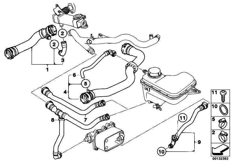 Original Parts for E83 X3 3.0d M57N SAV / Radiator