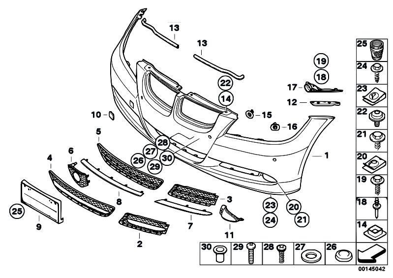 Original Parts for E90 320i N46N Sedan / Vehicle Trim