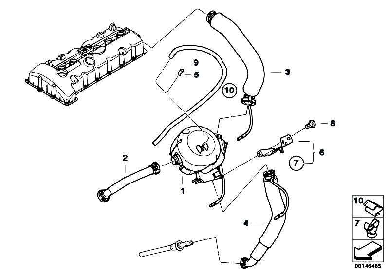 Original Parts for E60 530xi N52 Sedan / Engine/ Crankcase