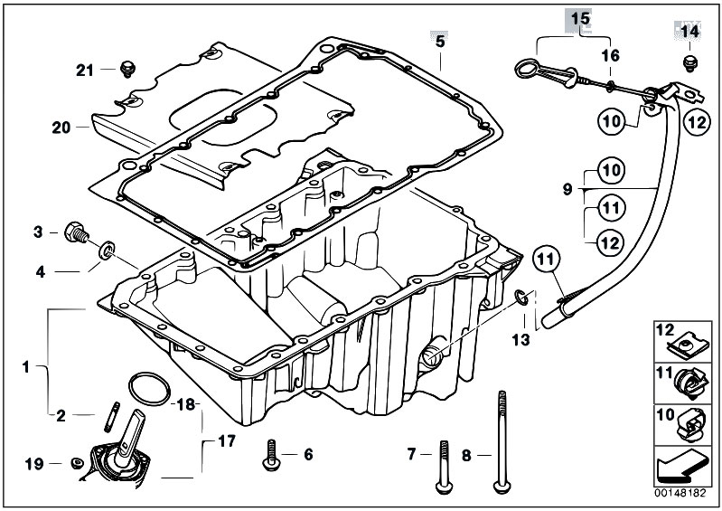 Original Parts for E46 320d M47N Touring / Engine/ Oil Pan