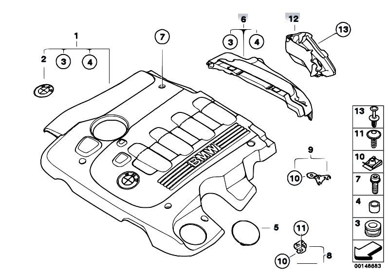 Original Parts for E61 525d M57N Touring / Engine/ Engine
