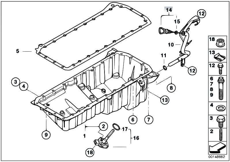 Original Parts for E92 330xd M57N2 Coupe / Engine/ Oil Pan