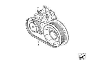 Original Parts for E60 535d M57N Sedan  Engine Belt