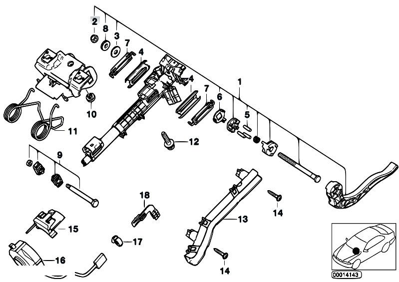 Original Parts for E46 318i N42 Sedan / Steering/ Steering