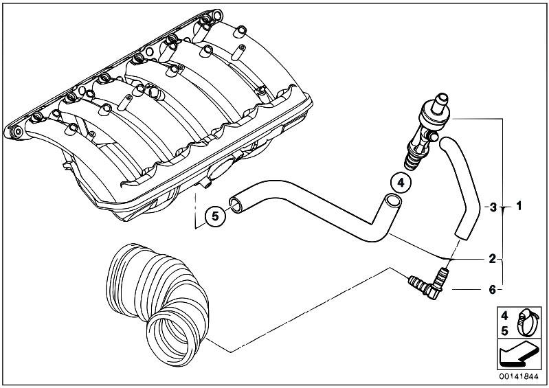Original Parts for E83 X3 2.5i M54 SAV / Engine/ Vacuum