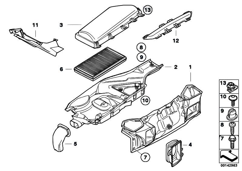 Original Parts for E60 525d M57N Sedan / Heater And Air