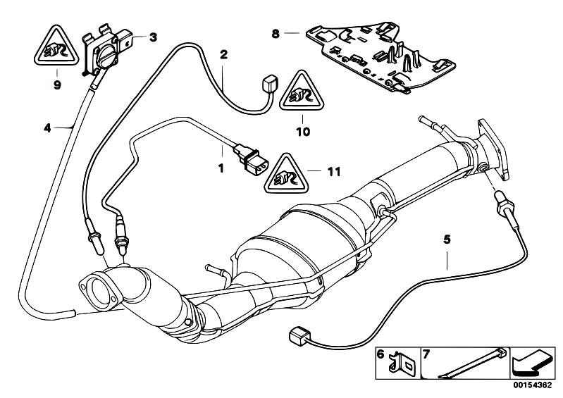 Original Parts for E53 X5 3.0d M57N SAV / Exhaust System