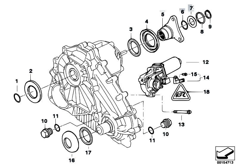 Original Parts for E53 X5 4.4i N62 SAV / Transfer Box/ Single Parts F Transfer Case Atc 500