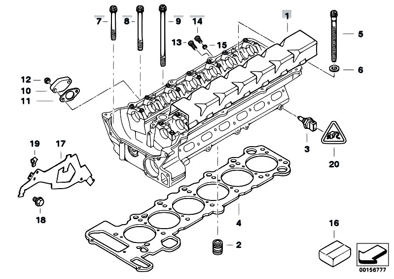 Original Parts for E83 X3 3.0i M54 SAV / Engine/ Cylinder