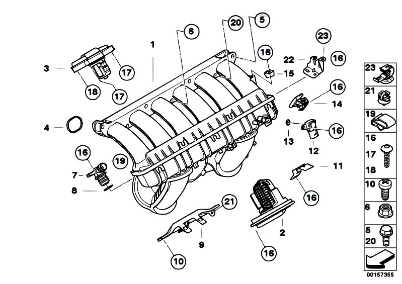 Original Parts for E60 530i N52 Sedan / Engine/ Intake