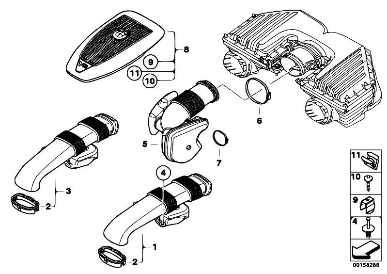 Original Parts for E70 X5 4.8i N62N SAV / Fuel Preparation