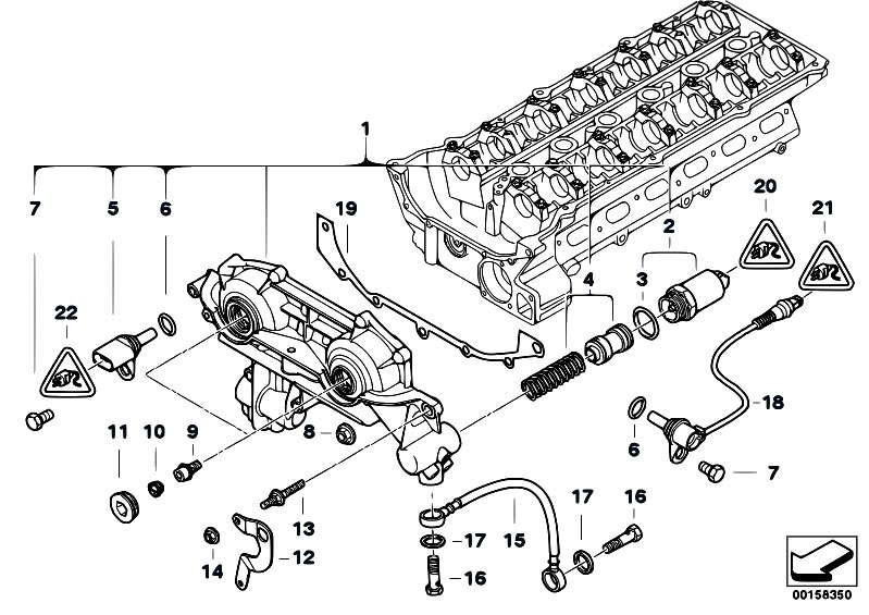 Original Parts for E60 530i M54 Sedan / Engine/ Cylinder