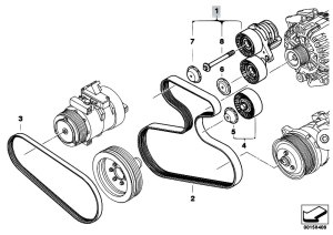 Original Parts for E70 X5 30si N52N SAV  Engine Belt