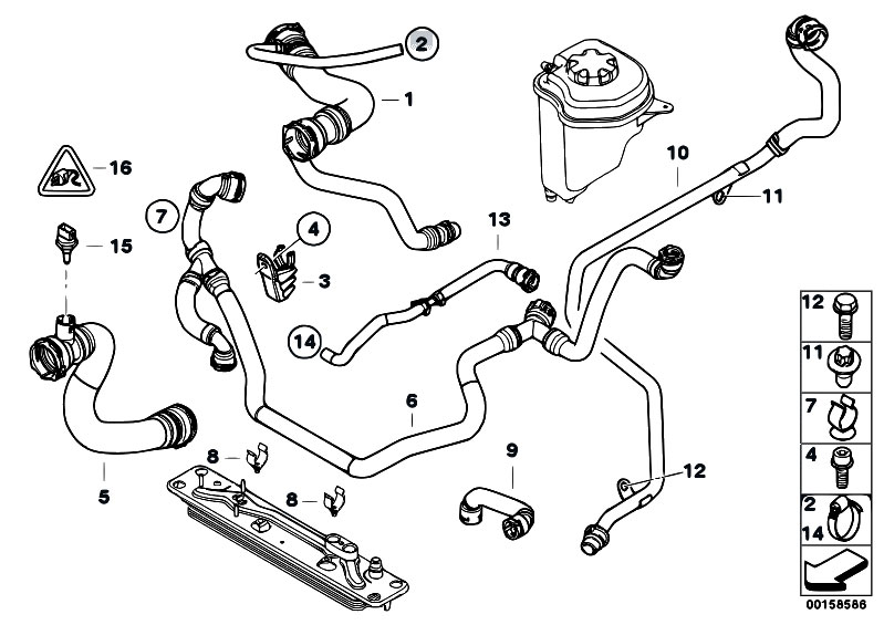 Original Parts for E70 X5 3.0si N52N SAV / Radiator
