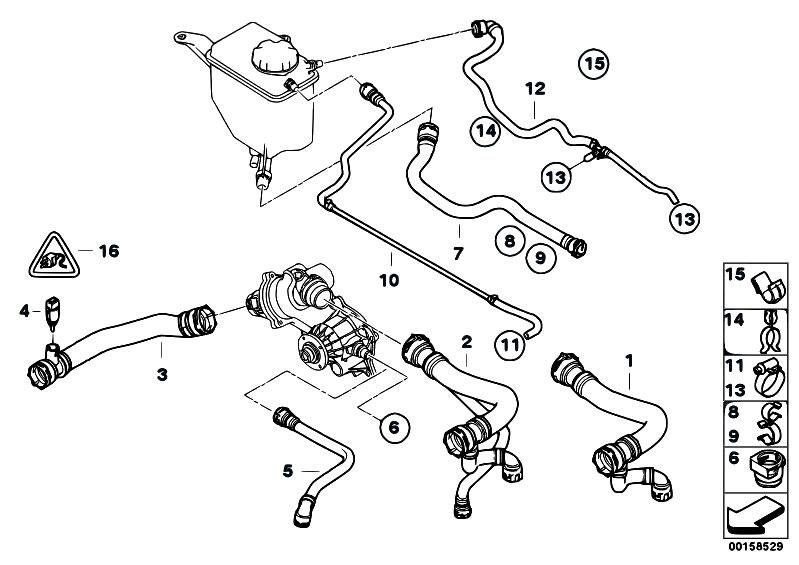 Original Parts for E60 545i N62 Sedan / Radiator/ Cooling