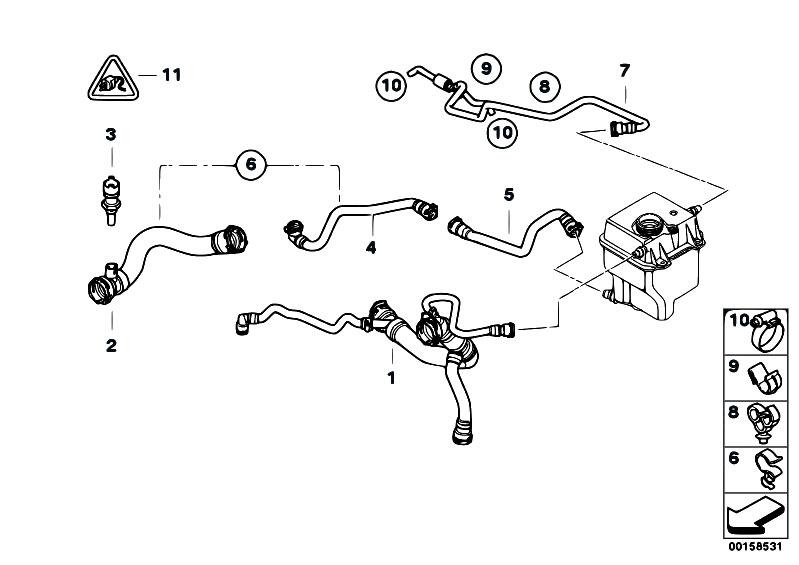 Original Parts For E53 X5 4 4i N62 Sav Radiator Cooling