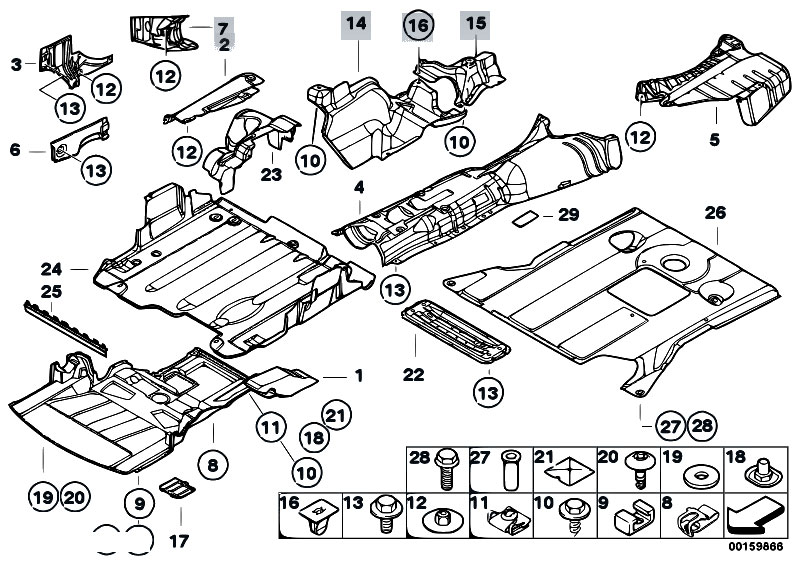Original Parts for E46 M3 S54 Coupe / Vehicle Trim/ Heat