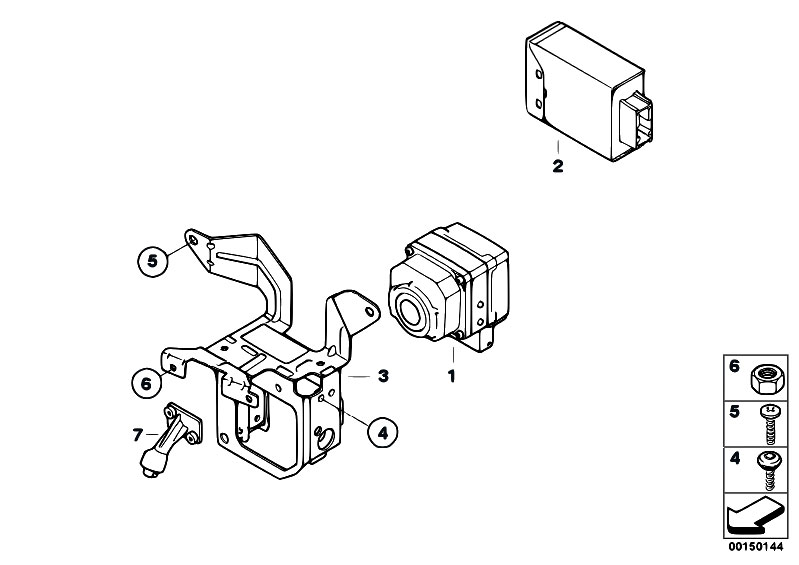 Original Parts for E66 760Li N73 Sedan / Distance Systems