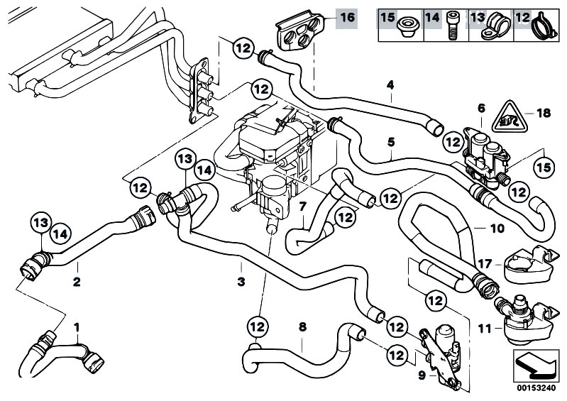 Original Parts for E61 545i N62 Touring / Heater And Air