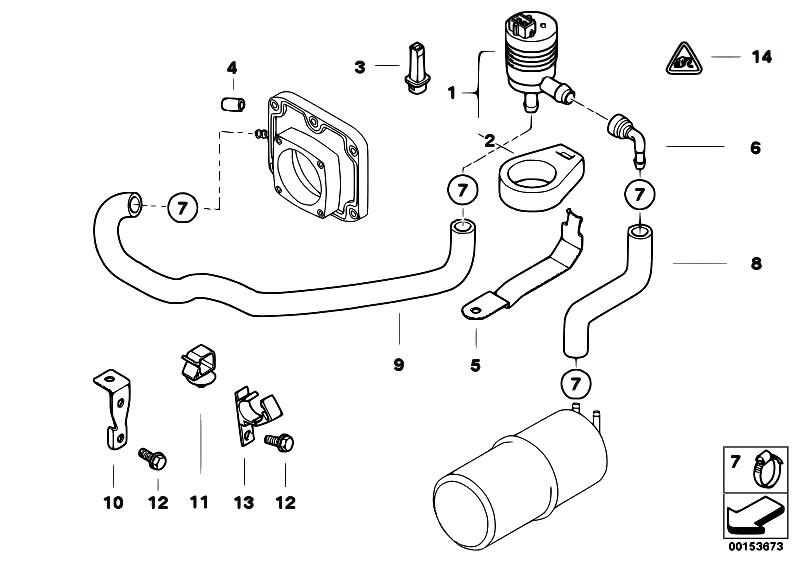 Original Parts for E38 735i M62 Sedan / Fuel Preparation