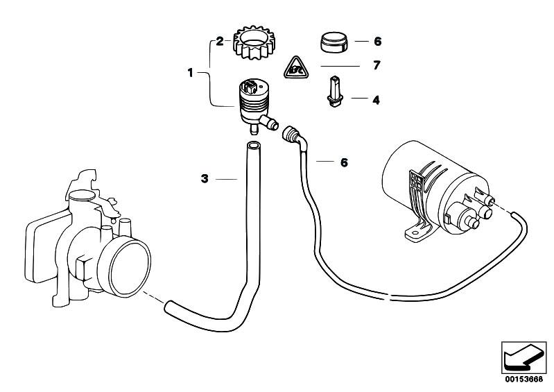 Original Parts for E46 316i 1.9 M43 Sedan / Fuel