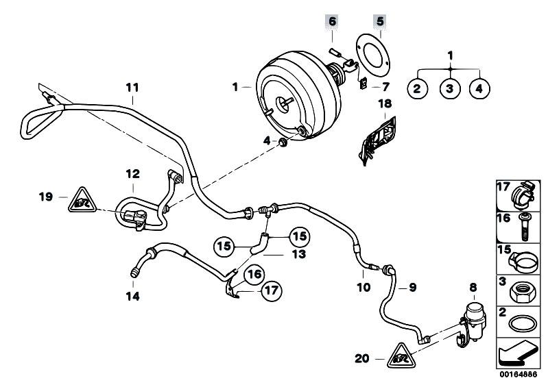 Original Parts for E92 M3 S65 Coupe / Brakes/ Power Brake