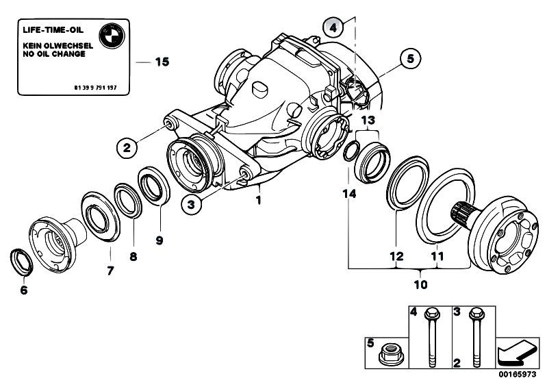 Original Parts for E87 118i N46 5 doors / Rear Axle