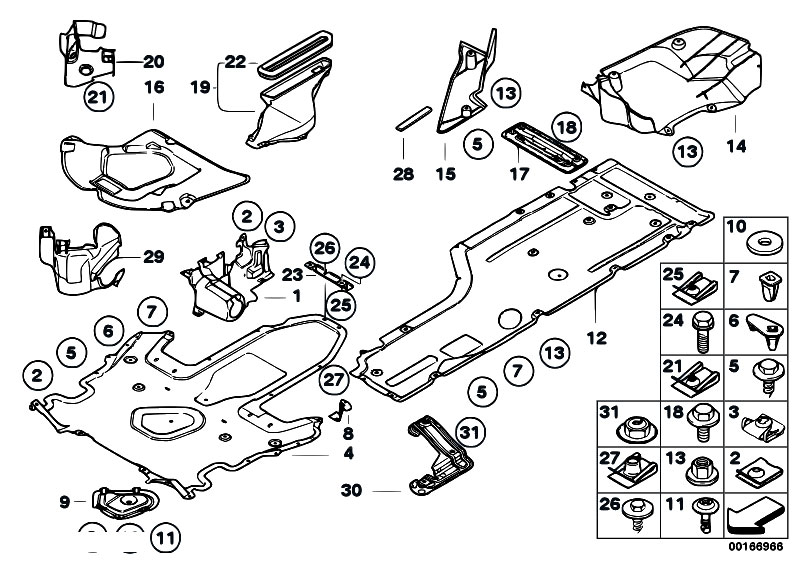 Original Parts for E60 530d M57N Sedan / Vehicle Trim