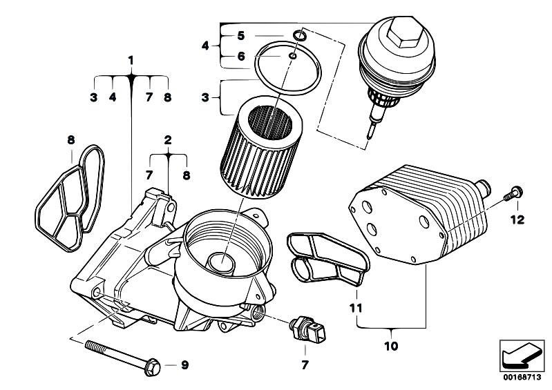 Original Parts for E60 535d M57N Sedan / Engine/ Lubricat