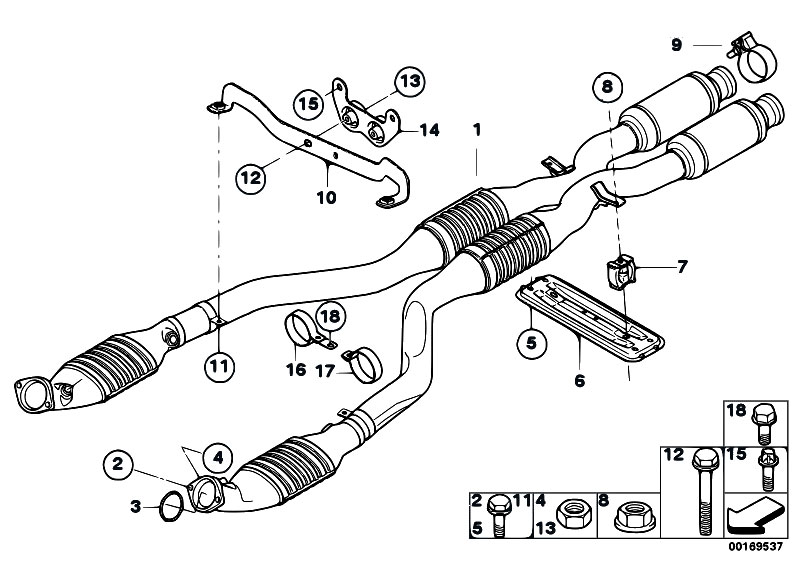 Original Parts for E92 M3 S65 Coupe / Exhaust System