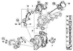 Original Parts for E92 335d M57N2 Coupe  Engine Turbo