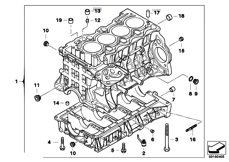 Original Parts for E91 318i N46 Touring / Engine/ Engine