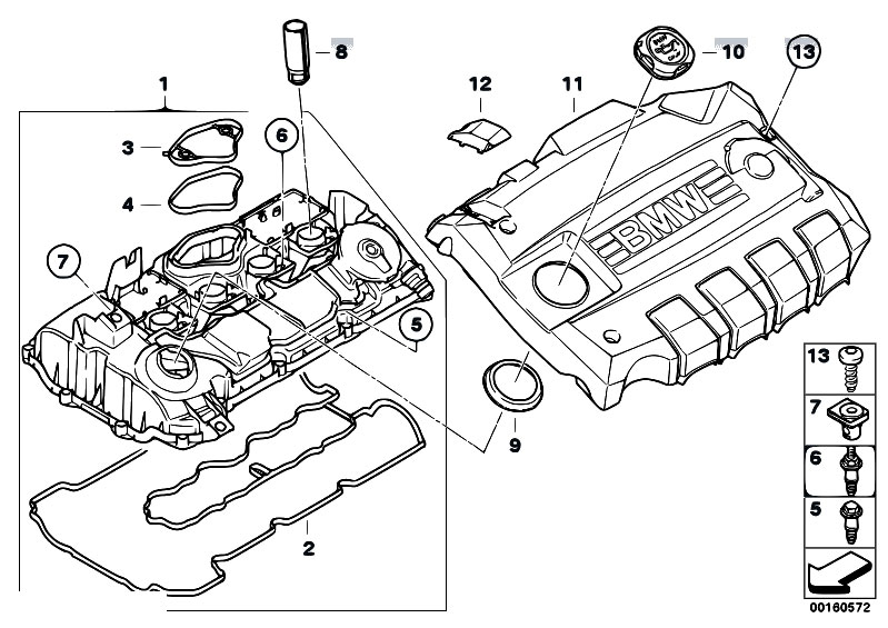 Original Parts for E81 116i 1.6 N43 3 doors / Engine