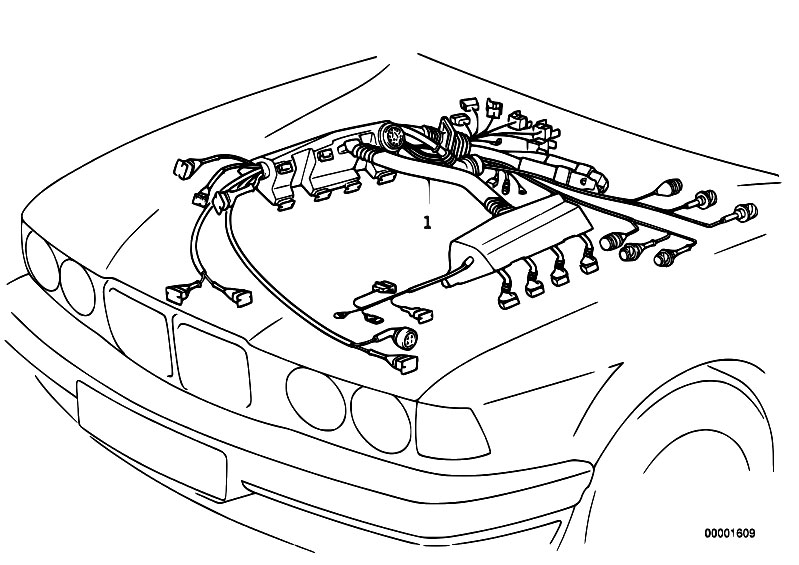 E46 Wiring Harness Diagram 86 325E BMW Car Stereo Wiring