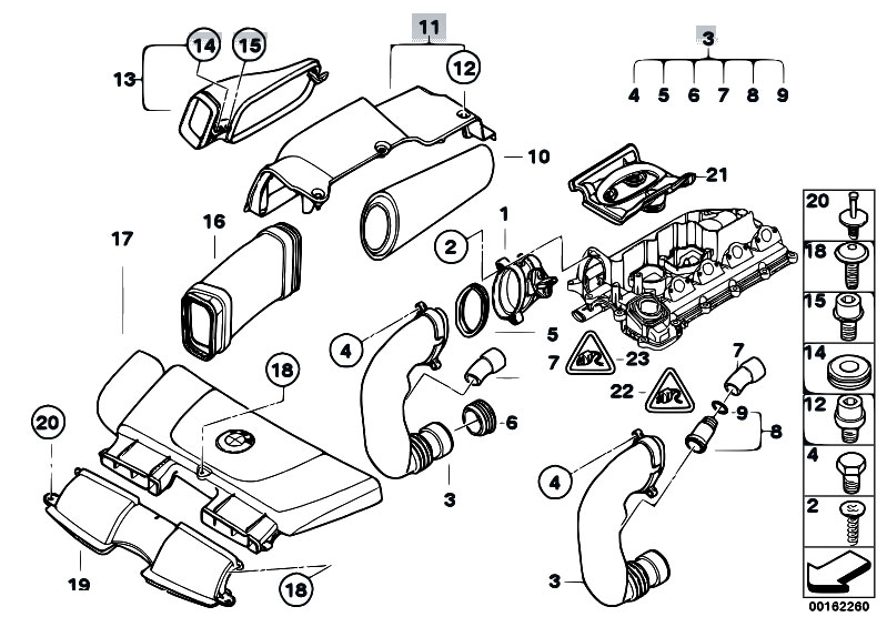 Original Parts for E90 320d M47N2 Sedan / Fuel Preparation