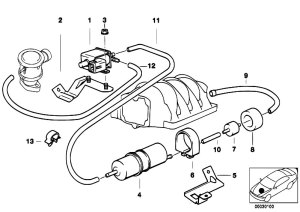 Original Parts for E39 540i M62 Touring  Engine Air Pump
