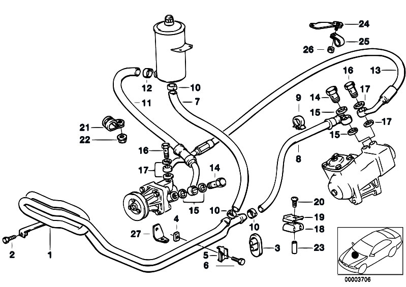Original Parts for E34 520i M50 Touring / Steering/ Hydro