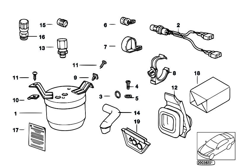 Original Parts for E36 318i M40 Sedan / Heater And Air