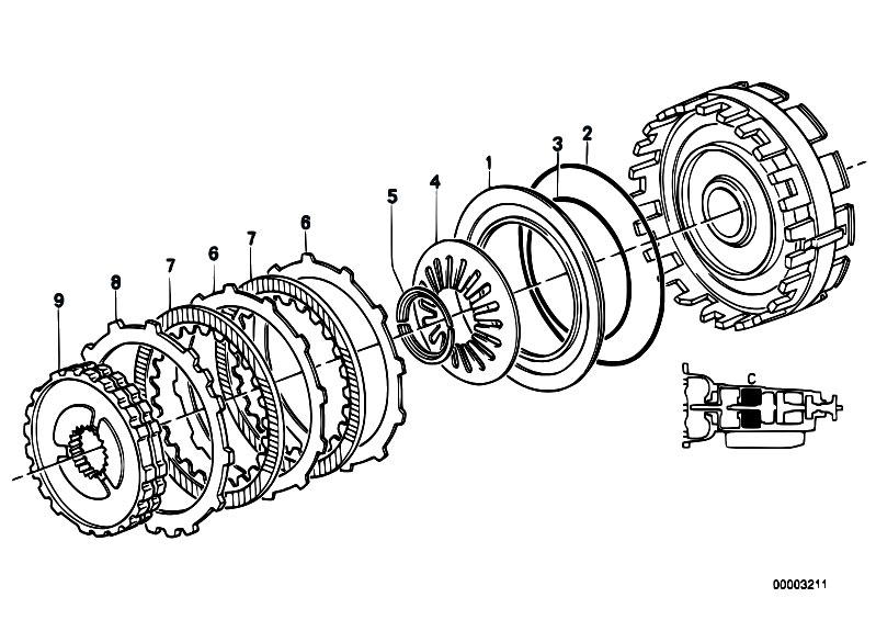 Original Parts for E32 750iL M70 Sedan / Automatic