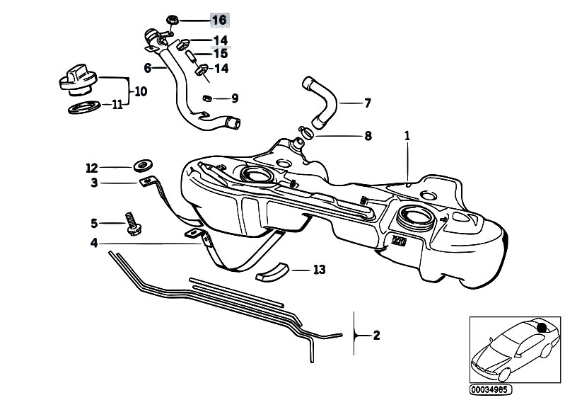 Original Parts for E36 318tds M41 Touring / Fuel Supply