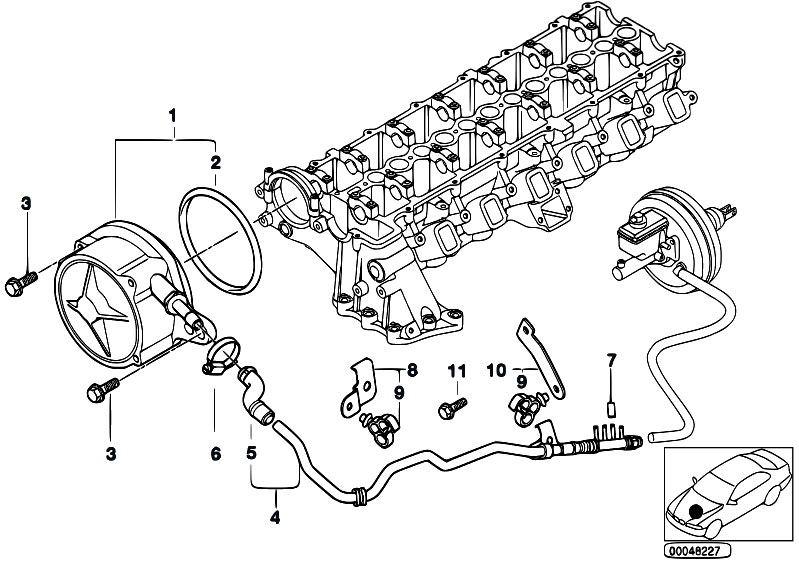 Original Parts for E46 330d M57 Touring / Engine/ Vacuum
