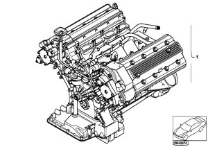 Original Parts for E39 M5 S62 Sedan  Engine Short Engine