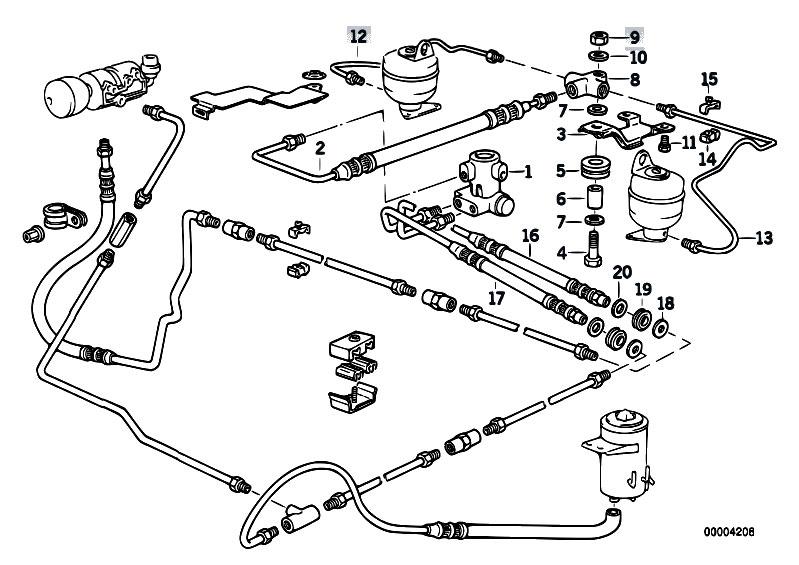 Original Parts for E34 525ix M50 Touring / Rear Axle