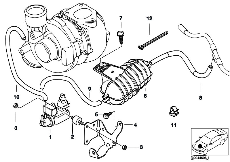 Original Parts for E46 330d M57 Touring / Engine/ Vacum