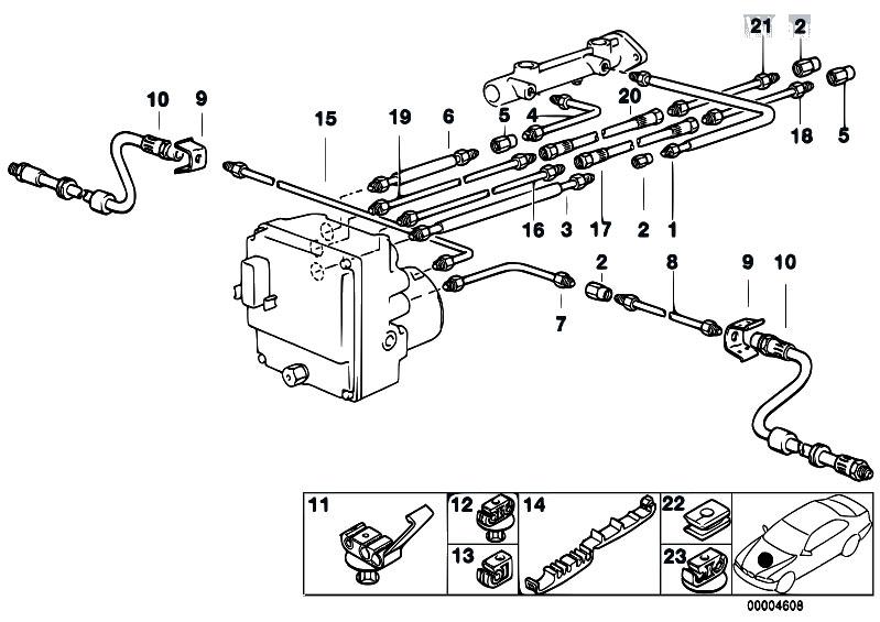 Original Parts for E39 520i M52 Touring / Brakes/ Brake