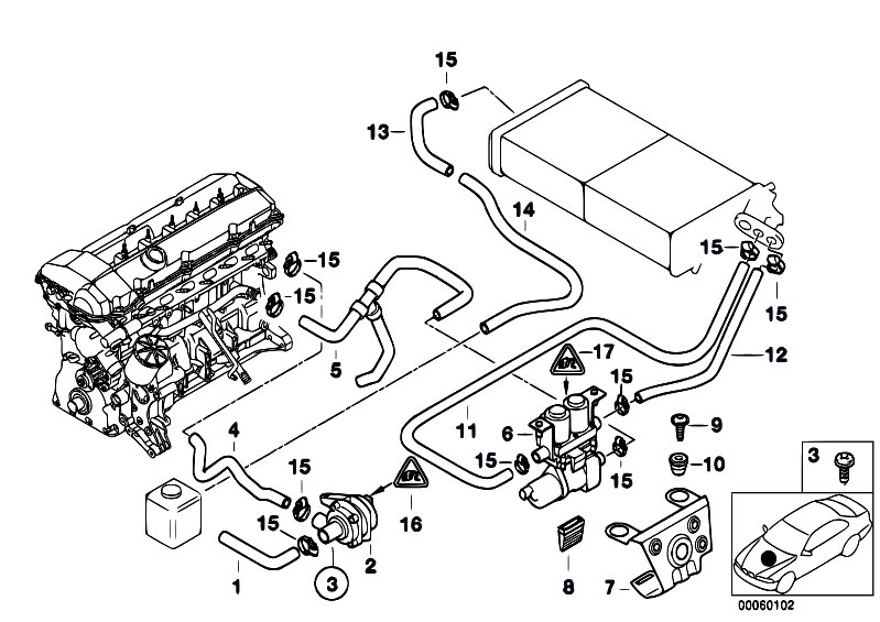 Original Parts for E38 728i M52 Sedan / Heater And Air