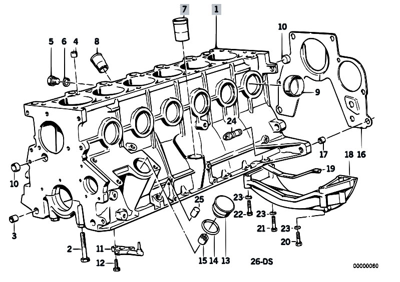 Original Parts for E34 524td M21 Sedan / Engine/ Engine