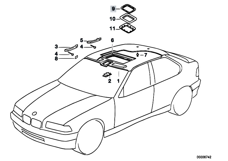 Original Parts for E36 318ti M42 Compact / Vehicle Trim