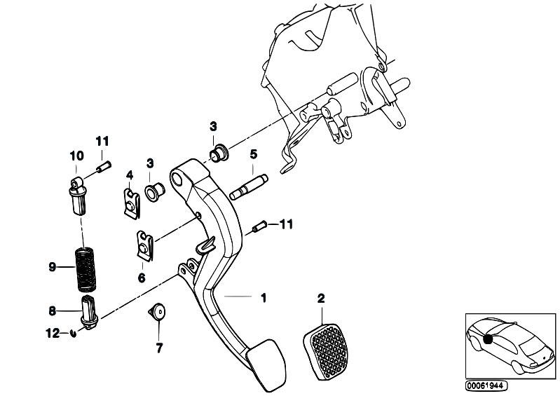 Original Parts for E53 X5 3.0d M57N SAV / Pedals/ Pedals