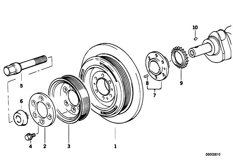 Original Parts for E39 525tds M51 Touring / Engine/ Belt